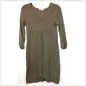 Boden V Neck Lightweight Sweater Shift Dress Linen